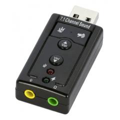 ADAPTADOR DE SOM KNUP USB 2.0 7.1 HB-T64
