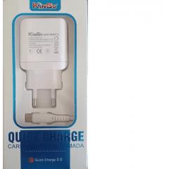 CARREGADOR KINGO USB TIPO-C 3.0 U330 TURBO