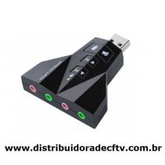 Placa De Som USB 2.0 Externo Canais USOM 20 4 Portas 7.1 - XT-2031