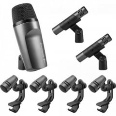Kit Microfone para Bateria E 600 Preto SENNHEISER