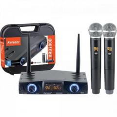 Microfone de Mão Duplo sem Fio KRD200DM KARSECT