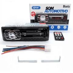 RADIO AUTOMOTIVO MP3 PLAYER BLUETOOTH 4X25W RMS USB SD AUX KNUP KP-C28BH