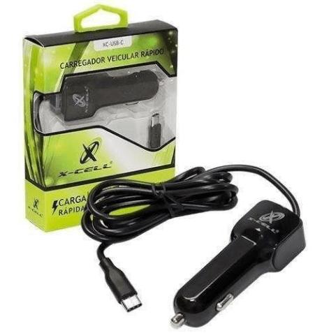 CARREGADOR VEIC. USB 12/24V TIPO-C 2.1A - XCELL