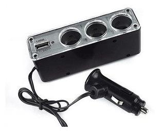 EXTENSÃO VEICULAR IR-CAR C/ TRIPLO SOQUETE + USB